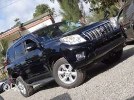 Toyota landcruiser prado black colour 2010 model excellent condition