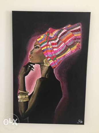 hand painted on canvas (size 40x60)