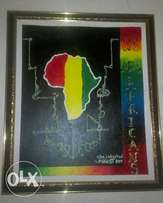 Map of Africa painting