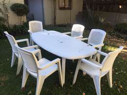 Plastic Patio Dining Set