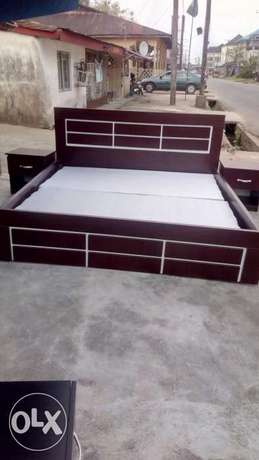A newly made bed with foreign wood available for sale Uyo - image 1
