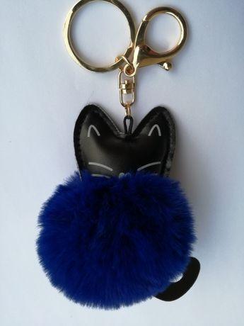 137889a8d6f9d0 Brelok pompon kot kotek zawieszka do kluczy lub torebki futro futerko  Bielsko-Biała - image