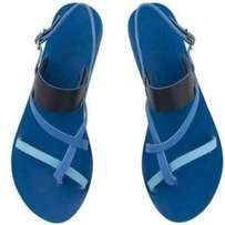 Comfortable blue female sandals