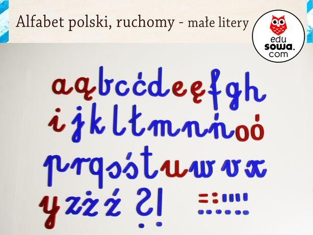 Alfabet Polski Nauka Montessorii Pomoce Edukacyjne Wrocław Fabryczna