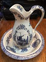 Delft Porcelain water jug and bowl