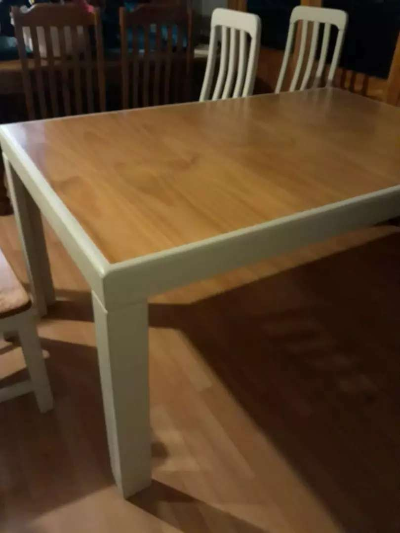 Oregon Pine Dining Room Table And 4 Chairs 0