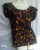 black flower top made in nigeria