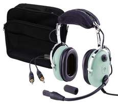 David Clark Aviation Headset and bag for sale