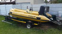 5m wildcat semi rigid with 30hp yamaha. Make an offer