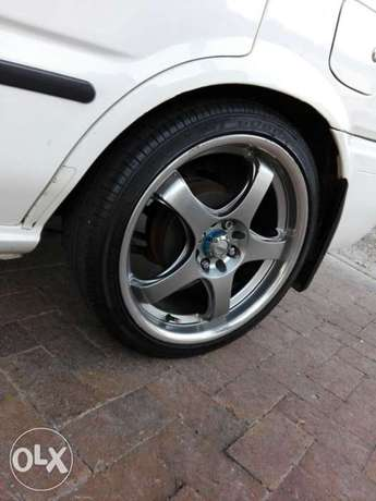 17inch mags with tyres wanting to swop with 15inch Athlone - image 1