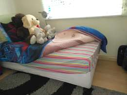 single bed and base set for sale