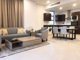 Brand new luxury 1bhk apartment furnished for rent in juffair+balcony