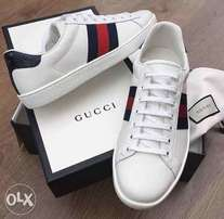 New stock Gucci white sneakers