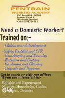 Trained and Reliable Nannies & Househelps Available