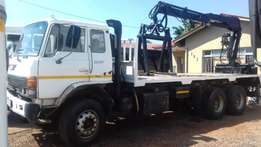 Hino ADE 407 Brick Crane Grab and Water works