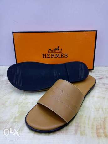 In stock with quality HERMES slippers design avalible on tunds store Lagos Mainland - image 2