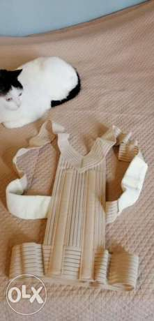 Corset elastic for straight back and shoulders