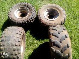 kiddy's quad rims and tyres