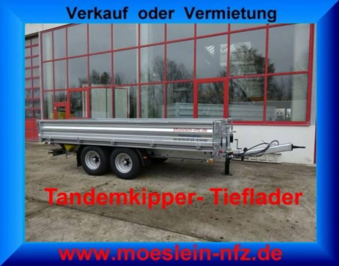 Möslein TTD 105 Tandem- Dreiseiten- Kippanhänger Tieflad - 2019