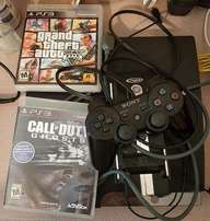 slim ps3 with games 15 of them
