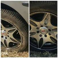 A full set of Car rims for sale