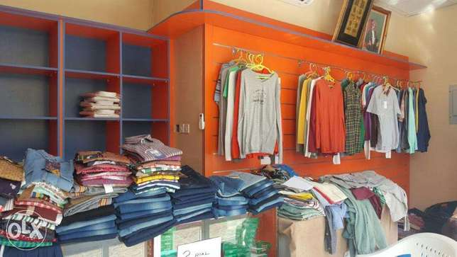 Shop with garments
