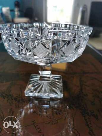 Vintage crystal footed ashtray