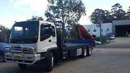 Crane truck hire available 24/7