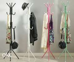 Coloured coat and hat rack