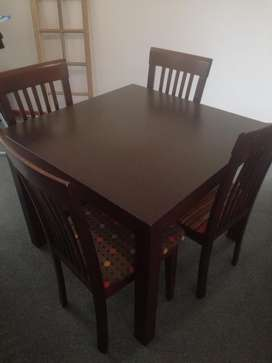 Dining Room Table Dark Wood In New Condition For Sale Whatsapp Me