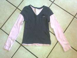 Pro action women's grey/pink top size S