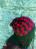 crochet plaid hat