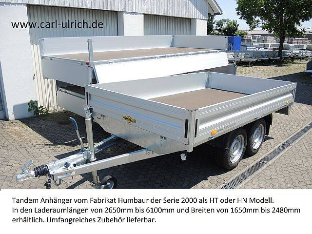Humbaur HT254118 Tandemanhänger 2,5to Hochlader