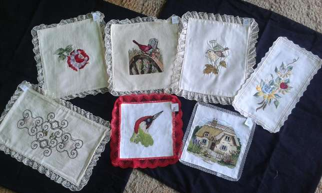Embroidered Cushion, Doilies & Cloths. Benoni - image 3