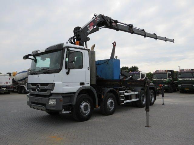 Mercedes-Benz 4141 8x4 Haaksysteem / Hiab 377 Ep-5 - 2010