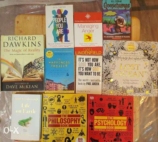 Collection of various books for sale