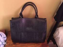 Leather Official Handbag *Black* KSh3500**