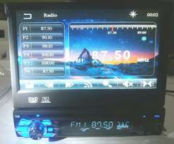 """2 Din DVD Car Radio Stereo with 7"""" TFT Retractable, Bluetooth"""
