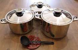 Brand new stainless steel heavy-duty cookware rolux pot set