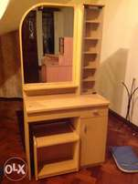 Dresser with matching stool in pine colour in good condition