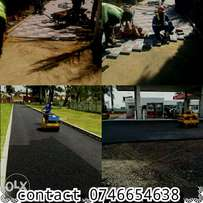 Tar surface and paving