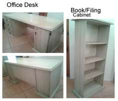 Office Desk and Book/Filing Case