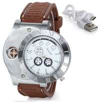 2-in-1 Mens Watch with cigarette lighter