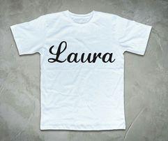 a191ede2e Koszulka z imieniem różne czcionki nowe koszulki personalizowane