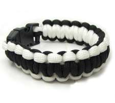 white rope wristband bracelet paracord