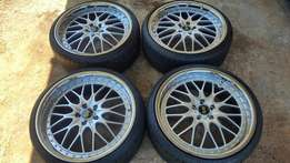 20 inch Rezax with tyres for sale
