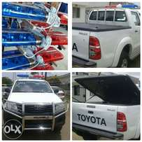 Boot cover for hilux pick up