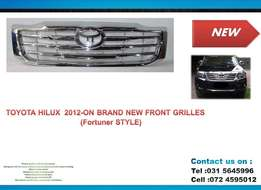 Toyota Hilux New ( Fortuner Style) front Grilles chrome PRICE R850