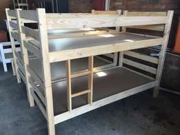 pine double bunk beds