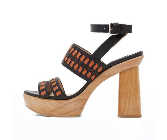 Góra Buty słupek sandały drewniane platformy Mango 37 premium nowe NZ99
